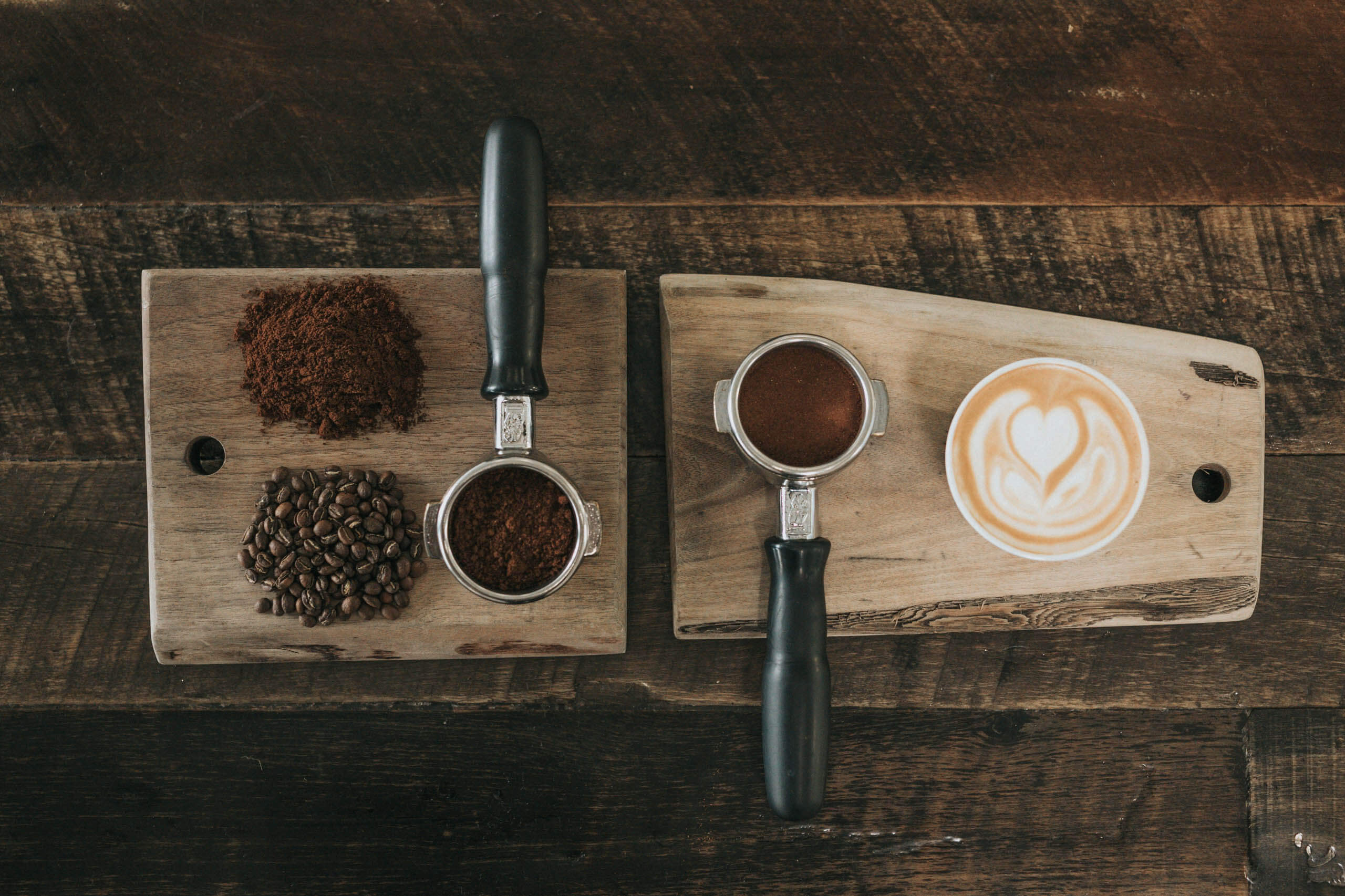 Aerial view of coffee. Photo by Nathan Dumlao on Unsplash
